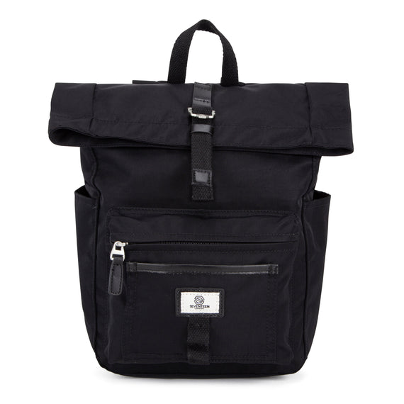 Canary Wharf Mini Backpack - Black with Black