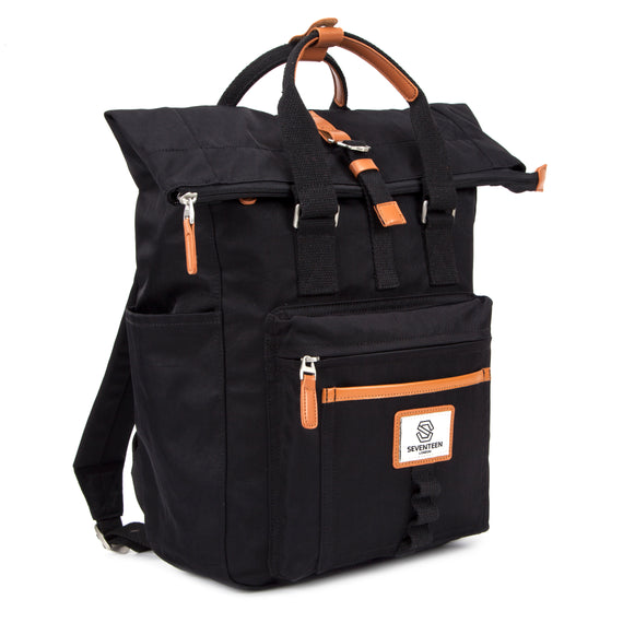 Canary Wharf Backpack - Black with Tan