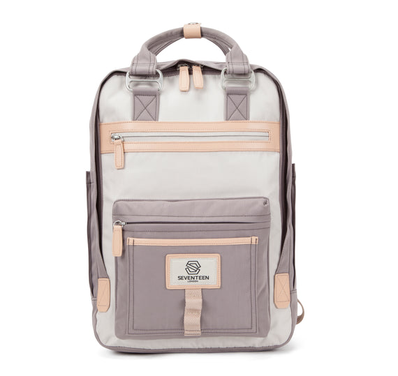 Wimbledon Backpack - Grey with Cream
