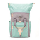 Canary Wharf Backpack - Pastel Green with Grey
