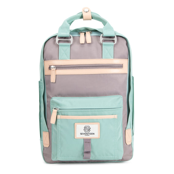 Wimbledon Backpack - Pastel Green with Grey