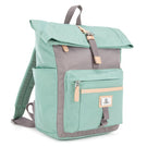 Canary Wharf Mini Backpack - Pastel Green with Grey