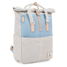 Soho Rolltop Backpack Cream & Light Blue
