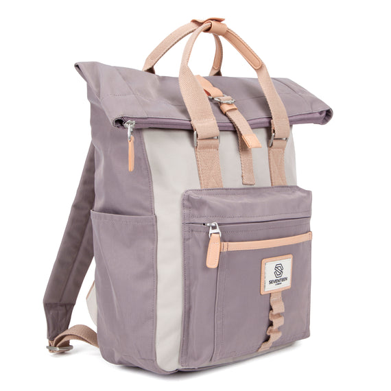 Canary Wharf Backpack - Grey & Cream