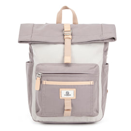 Canary Wharf Mini Backpack - Grey with Cream