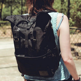 Soho Rolltop Backpack Black