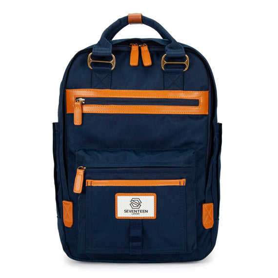 Wimbledon Backpack - Navy with Tan