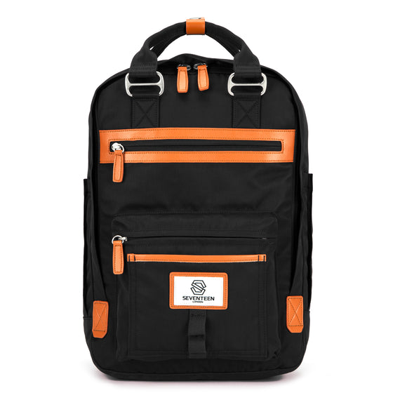 Wimbledon Backpack - Black with Tan