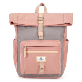 Canary Wharf Mini Backpack - Pink with Grey