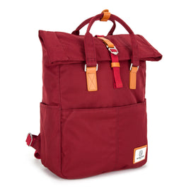Soho Rolltop Backpack Burgundy