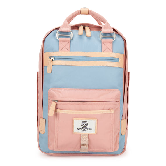 Wimbledon Backpack - Pink with Light Blue