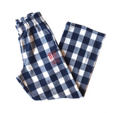 Lounge BFF Logo Pants - Navy Buffalo Plaid
