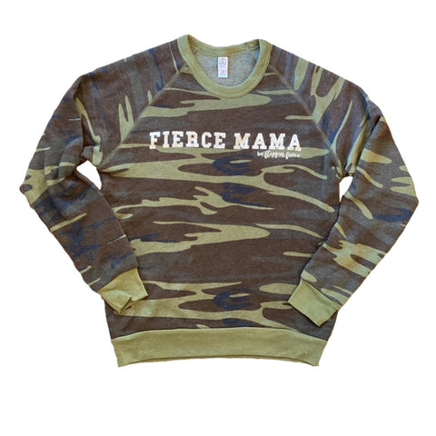 Fierce Mama Camo Crewneck Sweatshirt