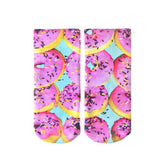 Pink Donut Ankle Socks
