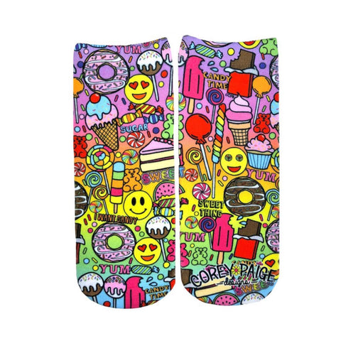 I Want Candy Ankle Socks