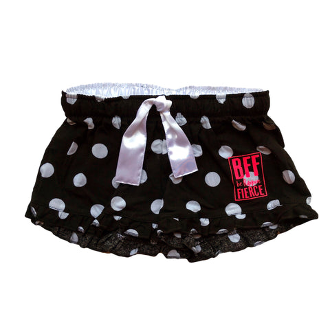 Lounge BFF Logo Shorts - Black/White Dot