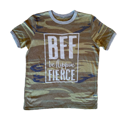 Be Flippin Fierce™️ Camo Ringer