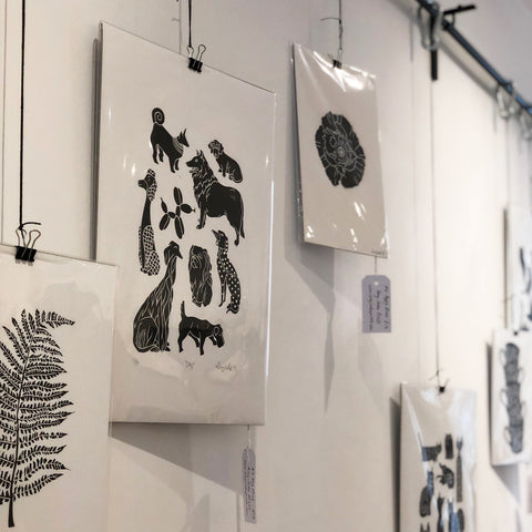 amy jade prints of dogs and fern