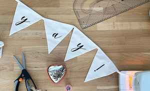 learn to sew in bunting making class