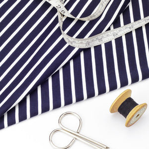 Navy and White Stripe Jersey - LAST PIECE, 1M LEFT