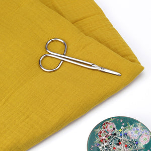 Mustard Cotton Double Gauze