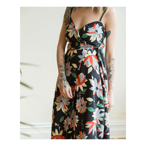 Sarah Pattern Hack: Strappy Wrap Dress