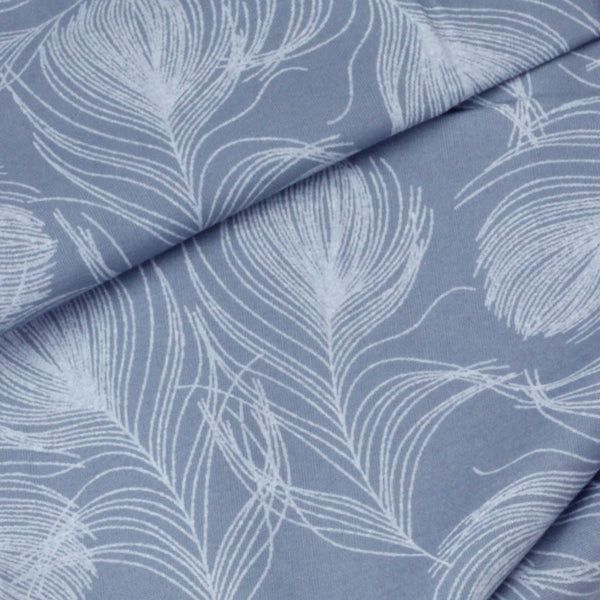 Feather Print Cotton Poplin