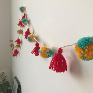 Make a Pompom Garland with Ginger + Space