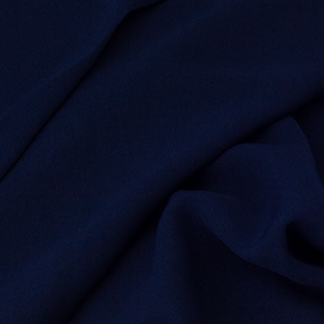 Hello Workshop Navy Polyester Fabric