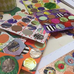 Children's Collage and Stitch Class with Jessica Grady