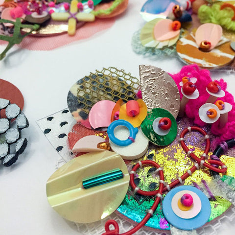 Stitched Scrap Brooches Online Workshop with Jessica Grady
