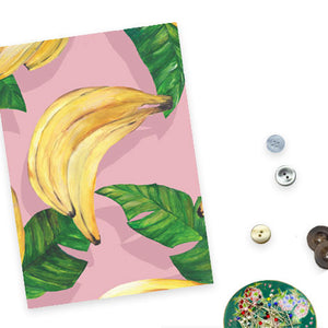 Banana and Leaves Print
