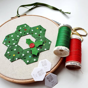 Festive Hexie Wreath Workshop with Hayley Mills-Styles