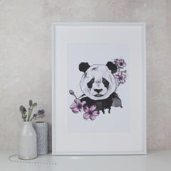 panda print by North and Fauna