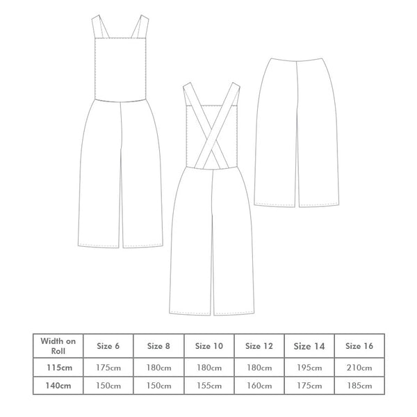 Emily Culotte Pinafore Pattern