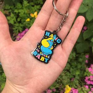 Hang in there Baby Hard Enamel Keyring