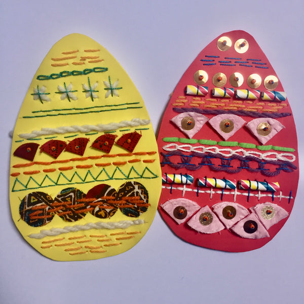 Family Friendly Stitched Easter Eggs Online Workshop with Jessica Grady