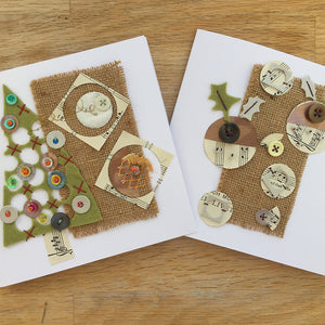 Hand Stitched Collage Christmas Cards Online Workshop with Jessica Grady