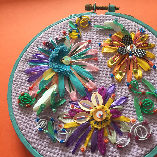 Embellished Floral Hoop Online Workshop with Jessica Grady