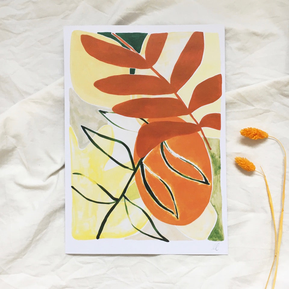 Orange - A4 Print - Abstract Plant Life Series