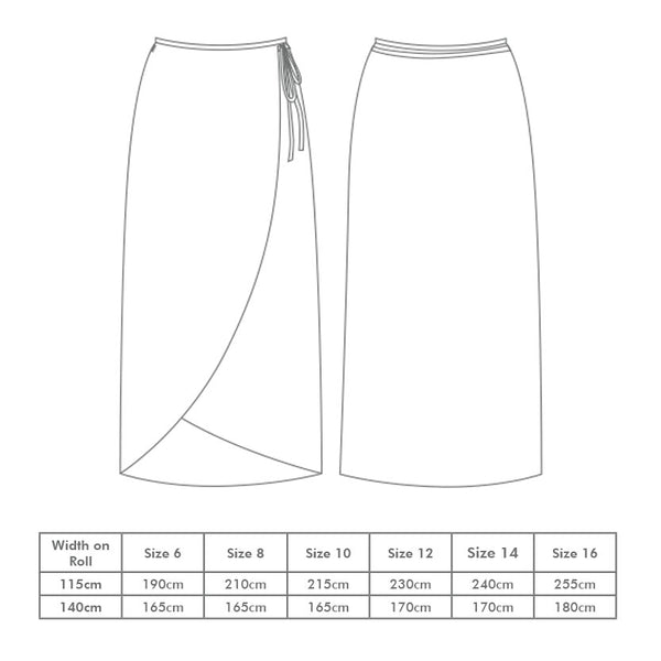 Sarah Wraparound Skirt Pattern