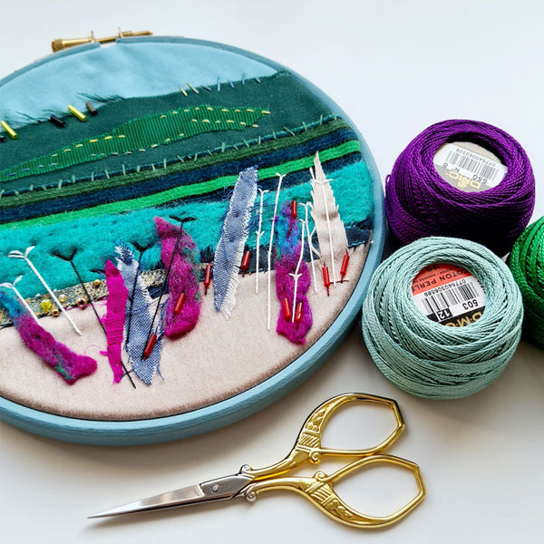 Stitchscapes Fabric Collage Online Workshop with Hayley Mills-Styles