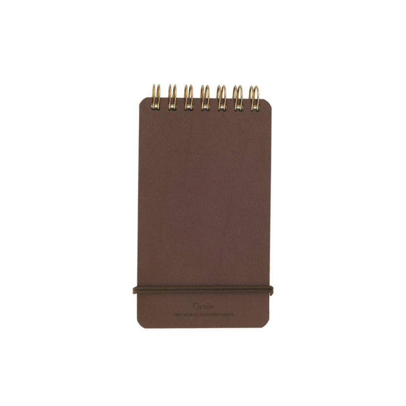 Brown Leather Memo Notebook