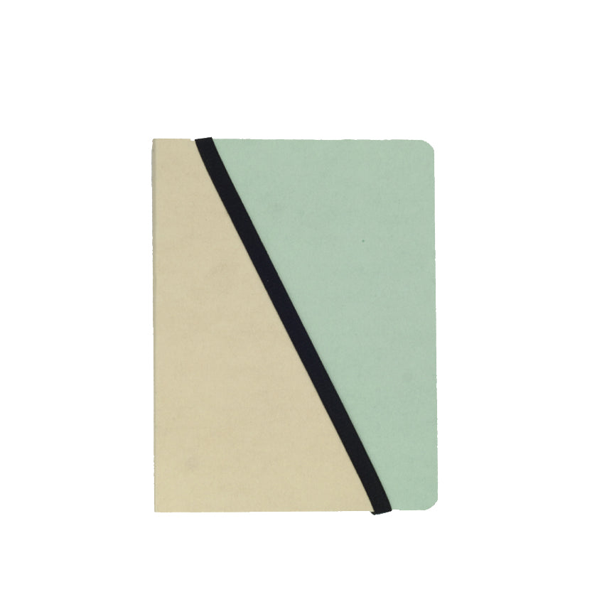Salmon/Turquoise Divido Notebook