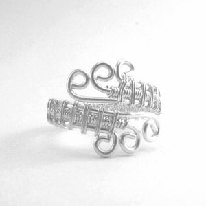 handmade adjustable wire ring, make your own