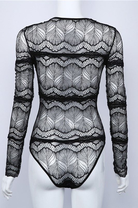 Long sleeve web body suit