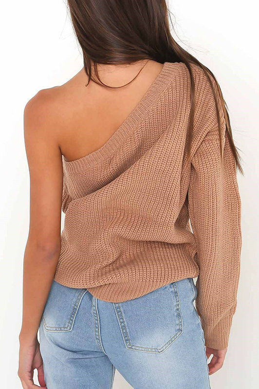 Loose one sleeve sweater-Coming soon!