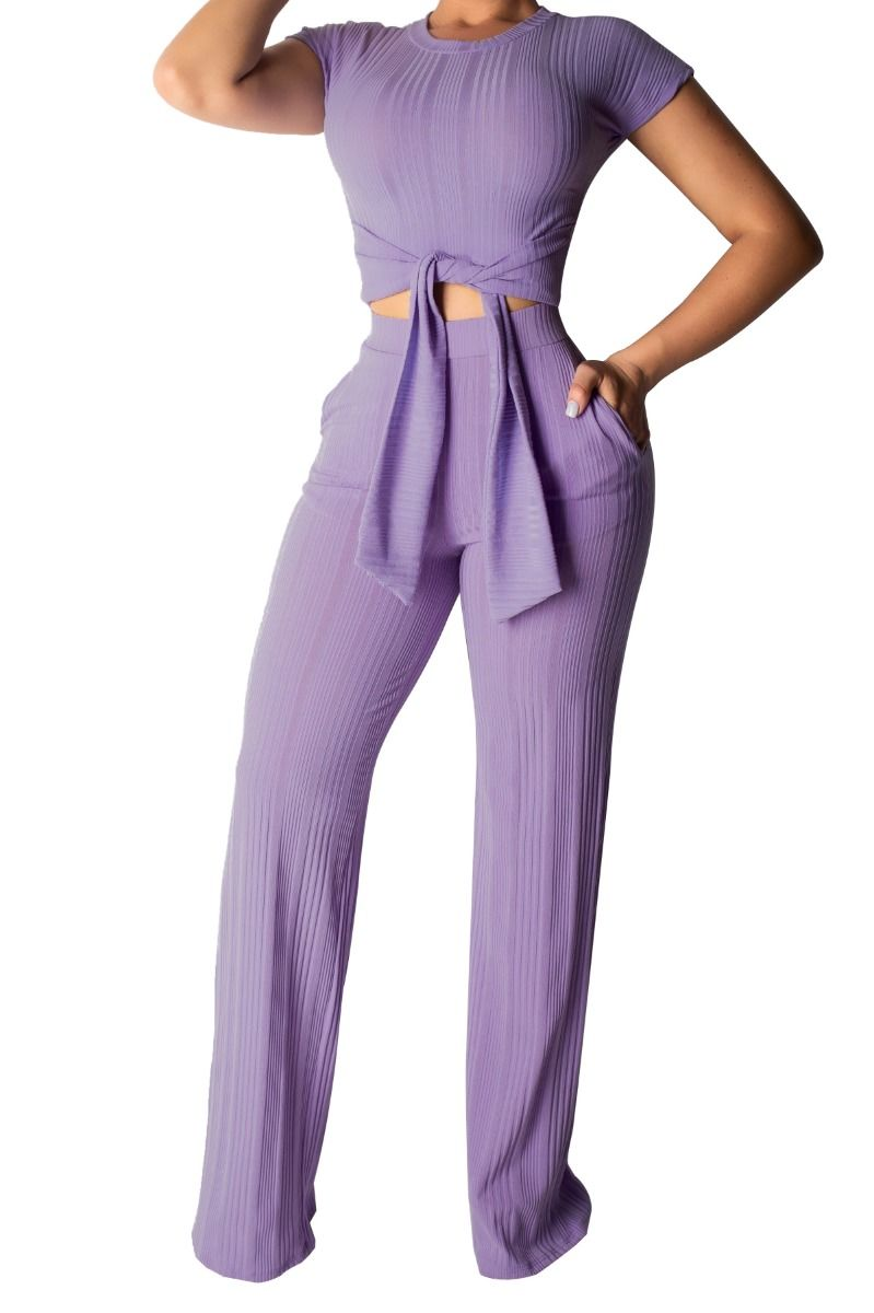 Two piece crop pant set