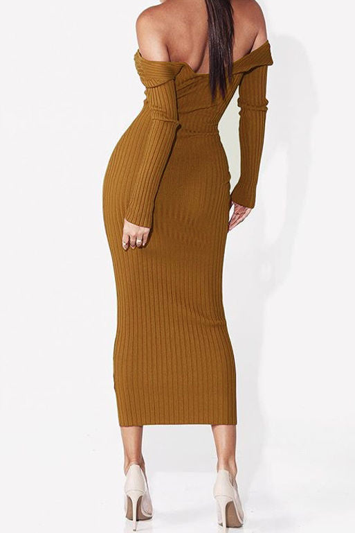 Mini maxi sweater dress-Clearance!
