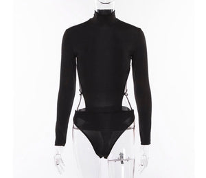 Geek chic' turtle neck body suit
